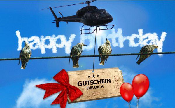 Geschenkgutsein Hubschrauber Geburtstag