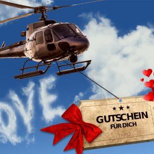 Geschenkgutsein Hubschrauber Love